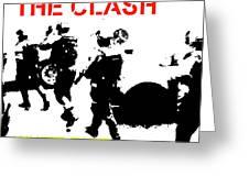 Clash White Riot  Greeting Card