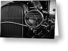 Classic American Ford Coupe Greeting Card