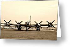 Classic B-29 Bomber Aircraft Greeting Card