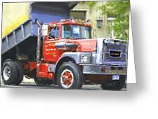 Classic Brockway Dump Truck Greeting Card