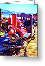Classic Calico Train Greeting Card
