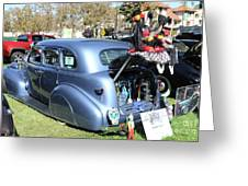 Classic Car Decorations Day Dead  Greeting Card