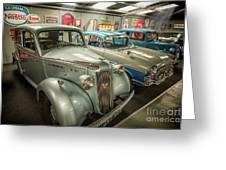 Classic Car Memorabilia Greeting Card