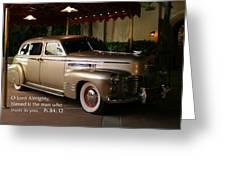 Classic Car Psalm Eighty Four Vs Tweleve Greeting Card