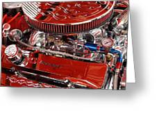 Classic Chevrolet Engine Greeting Card