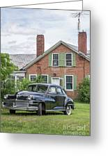 Classic Chrysler 1940s Sedan Greeting Card