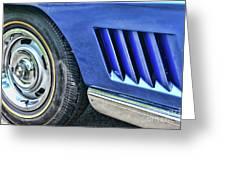 Classic Corvette Mako Shark 1965 Greeting Card