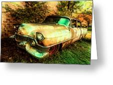 Classic Country Cadillac Painting  Greeting Card