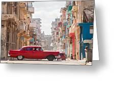 Classic Cuba Car Viii Greeting Card