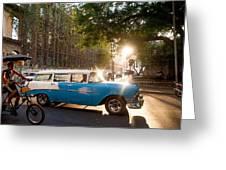 Classic Cuba Car Xii Greeting Card