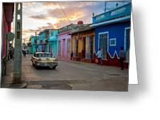 Classic Cuba Cars X1 Greeting Card