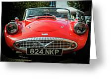 Classic Daimler Sports Car Greeting Card by Nick Bywater