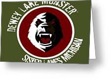 Classic Dlm Logo, Round Greeting Card