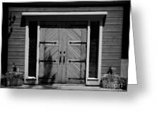 Classic Doors Greeting Card