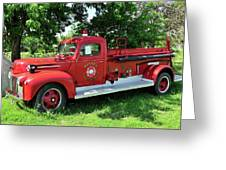 Classic Fire Truck Greeting Card