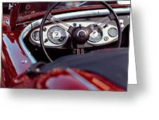 Classic Ford Convertible Interior Greeting Card