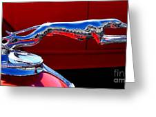 Classic Ford Greyhound Hood Ornament Greeting Card