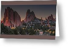 Classic Garden Of The Gods Greeting Card