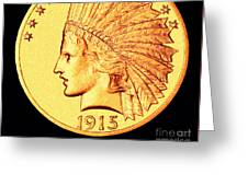 Classic Indian Head Gold Greeting Card