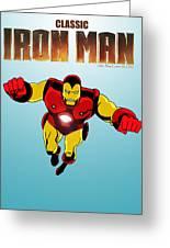 Classic Iron Man Greeting Card