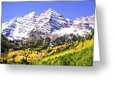 Classic Maroon Bells Greeting Card