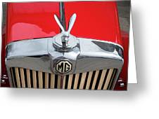 1936 Mg Ta Radiator And Mascot Greeting Card
