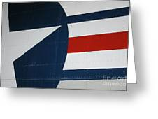 Classic Military Aircraft Abstract- Star 5 Greeting Card