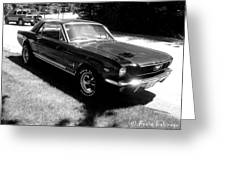 classic Mustang Greeting Card