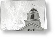 Classic New England Church Etna New Hampshire Greeting Card