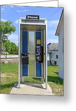 Classic Pay Phone Booth Greeting Card