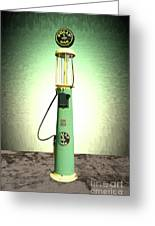 Polly Gasoline Pump And Emblem Greeting Card