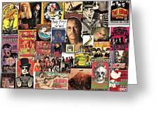Classic Rock 2 Collage Greeting Card