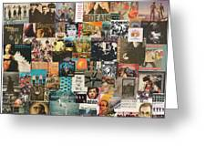 Classic Rock Lp Collage 1 Greeting Card