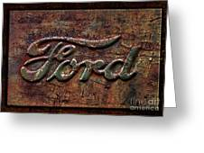 Classic Rusty Ford Pickup Truck Logo Detail Greeting Card