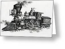 Classic Steam Greeting Card by James Williamson
