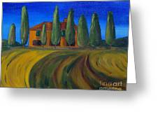Classic Tuscan Sunset Greeting Card