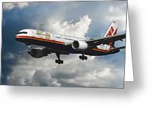 Classic Twa Boeing 757-231 Greeting Card