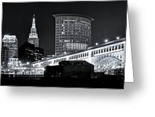 Classic View In Cle Greeting Card