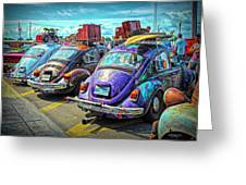 Classic Volkswagen Beetle - Old Vw Bug Greeting Card