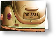 Classic Vw Beetle In Thailand Greeting Card by Georgia Fowler