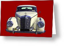 Classic White Mercedes Benz 300  Greeting Card