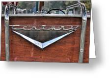 Classic Wooden Boat Greeting Card