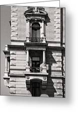 Classical Balcony Budapest Greeting Card