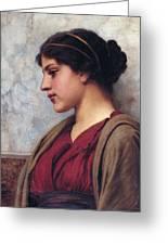Classical Beauty John William Godward Greeting Card