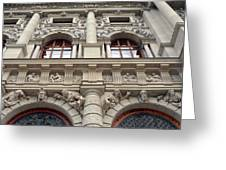 Classical Decorative Building Facade In Vienna Greeting Card
