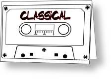 Classical Music Tape Cassette Greeting Card