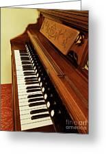 Vintage Organ Greeting Card
