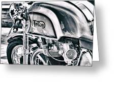 Classical Triton Cafe Racer Greeting Card