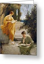 Classical Women Reading  Greeting Card