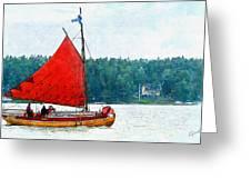 Classical Wooden Boat Tacksamheten Greeting Card